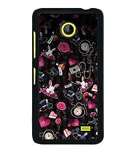 Assorted Items Wallpaper 2D Hard Polycarbonate Designer Back Case Cover for Nokia X :: Nokia Normandy :: Nokia A110 :: Nokia X Dual SIM RM-980 with dual-SIM card slots