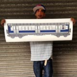 3 PC LIMITED EDITION SUBWAY PACK CLASSIC NEW YORK CITY , SUBWAY TRAINS , 1980S ERA MODELS , PERFECT AS IS OR YOU CAN CUSTOMIZE THEM
