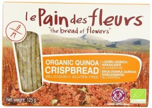 Le Pain Des Fleurs Organic Quinoa Crispbread 125 g (Pack of 3)