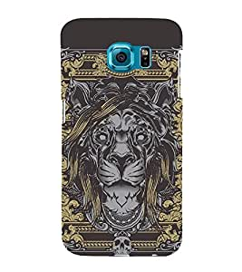 Wall Painting Lion 3D Hard Polycarbonate Designer Back Case Cover for Samsung Galaxy S6 :: Samsung Galaxy S6 G920
