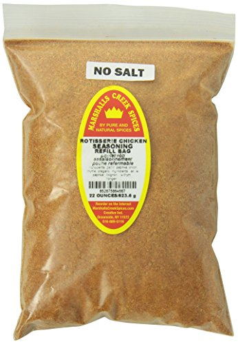 Marshalls Creek Spices Refill Pouch No Salt Rotisserie Chicken Seasoning, XL, 22 Ounce