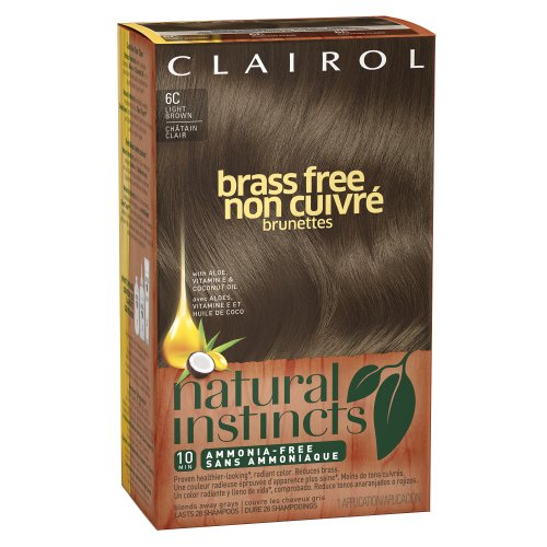 Clairol Natural Instincts Brass Free Hair Color 6C Light Brown 1 Kit (Pack Of 3) front-37218