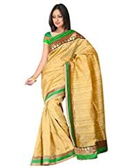 Sehgall Saree Indian Bollywood Designer Ethnic Professional Designer Material Faux Geogette Gold
