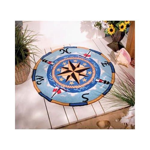 Nautical Compass Rose Rug: Nautical Compass Rug