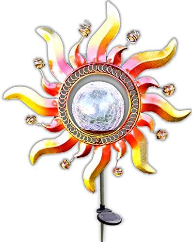 Solar Crackle Glass Garden Stake