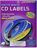Avery 047318 Matte White CD Labels for CD Stomper Pro (50-Pack)