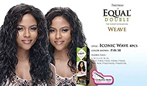ICONIC WAVE 4PCS - Shake N Go Freetress Equal Synthetic Hair Double Weave Extensions #2