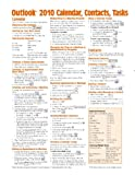 Microsoft Outlook 2010 Calendar, Contacts, Tasks Quick Reference Guide (Cheat Sheet of Instructions, Tips & Shortcuts – Laminated Card
