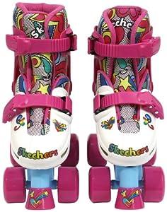 Skechers Adjustable Quad Roller Skate (Multi-color, Size 1-4)