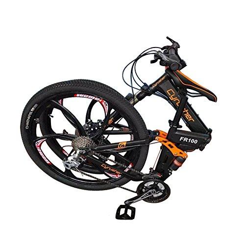 Mountainbikes-Klapprder-doppelte-Federung-Mann-Fahrrder-matt-schwarz-Shimano-M310-ALTUS-24-Geschwindigkeiten-17-Zoll-26-Zoll-Aluminium-Rahmen-Fahrrad-Scheibenbremsen-Cyrusher-aktualisiert-neu-FR100