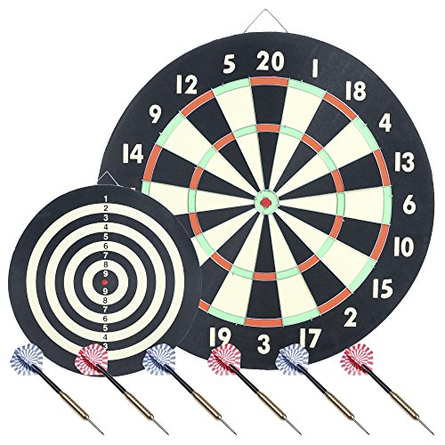 Trademark Global Game Room Dartboard Set with 6 Darts (Spider Web Targets compare prices)