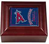 Great American Products GAP-WMBC2104 Los Angeles Angels MLB Wood Keepsake Box