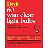GE Private Label 97453 Do it Clear Light Bulb-60W 2PK CLR BULB