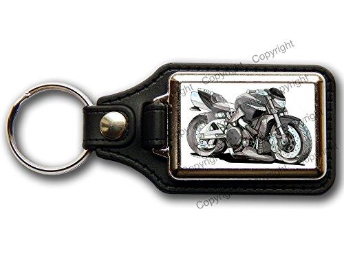 moto-suzuki-b-king-premium-koolart-porte-cles-en-cuir-et-chrome-choisissez-une-couleur-noir