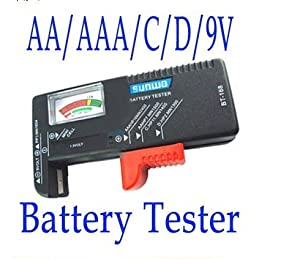 HK Universal Battery Volt Checker Tester for 9V 1.5V and Button Cell AAA AA C D BT-168