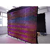 3x4m P10 led video curtain srceen for stage backdrop