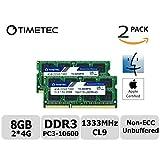 Timetec Hynix IC Apple 8GB Kit (2x4GB)  DDR3 1333MHz PC3-10600 SODIMM Memory upgrade For iMac 27-inch Mid 2010, iMac 21.5-inch Mid 2010 (Low Density 8GB Kit (2x4GB))