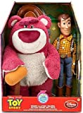 "Disney Toy Story 3 16"" Talking Woody Pull String Doll and 16"" Talking Strawberry Scented Large Lotso Bear"
