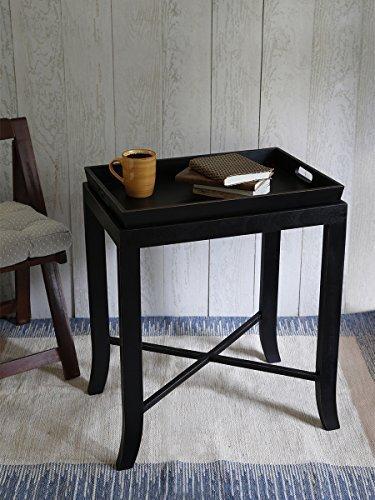 Store Indya, Tavolo in legno da 24 pollici moderna Black Butler per la cucina / Casa uso interno ed esterno.