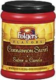 Folgers Flavors, Cinnamon Swirl Ground Coffee, 11.5oz Tub (Pack of 3)
