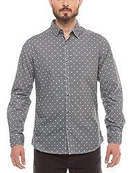 Shuffle Men's Casual Shirt (8907423018501_2021514001_Large_Blue)