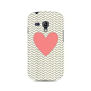 Mobicture Chevron Heart Premium Printed Case For Samsung S3 Mini 8190
