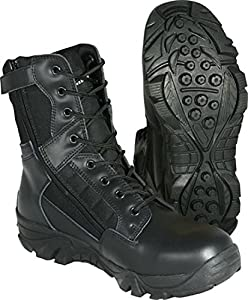 MIL-COM RECON BOOTS AIRSOFT SECURITY MILITARY HIKING WORK TACTICAL (Black, 9)