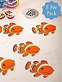 Bathtub Stickers Clownfish - Safety Decals Treads Non Slip Anti-skid Shower Applique