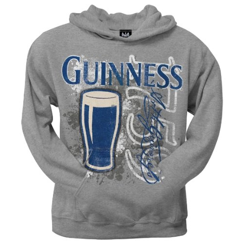 Old Glory Mens Guinness - Old School Splatter Pullover Hoodie - 2X-Large Grey