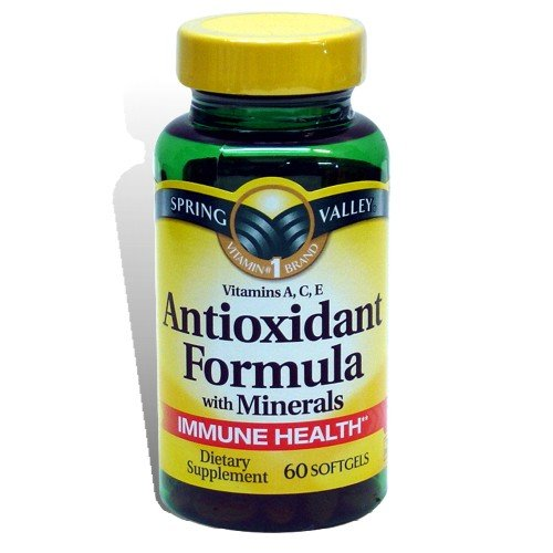 Spring Valley - Antioxidant Formula, Vitamin A, C, E with Minerals, 60 Ct