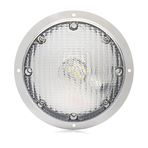 Lumitronics LED Surface Mount Porch Scare Light w/ Mounting Gasket So You Can Travel Safely - Stainless Steel Silver Base (Rv Exterior Lights compare prices)