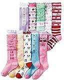(コナミヤ) Konamiya 女の子 靴下 ガーリイな姫系ハイソックス 10足セット のびのびソックス 子供 キッズ ガール