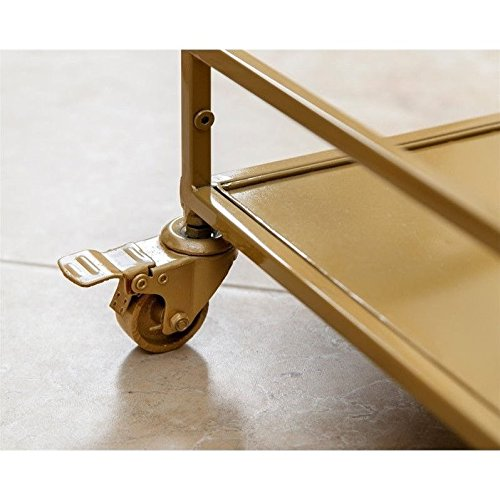 ABBYSON LIVING Marriot Gold Kitchen Bar Cart 3