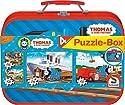 Schmidt Spiele 55593 - Thomas und seine Freunde, Puzzle-Box 2 x 26, 2 x 48 Teile im Metallkoffer