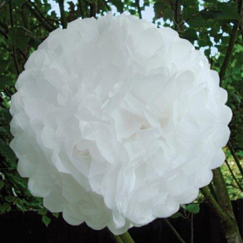 luxbon 5er set pompoms wei 10 inch dekob lle aus seidenpapier seidenpapier blume. Black Bedroom Furniture Sets. Home Design Ideas