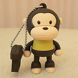 Baby Milo Monkey 4gb USB Flash Drive - Brown