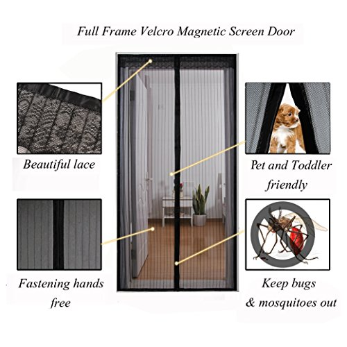 Appiness Patio Doors Magnetic Screen Doors 72 Quot W X 80 Quot H