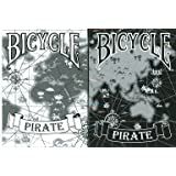 Bicycle Pirate Playing Cards 2 Deck Set 1 Black & 1 White