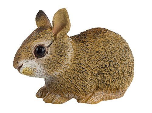 Safari Ltd Incredible Creatures Collection - Eastern Cottontail Rabbit Baby - Realistic and Life-Size - Hand Painted Toy Figurine Model - Quality Construction From Safe and BPA Free Materials - For Ages 3 and Up