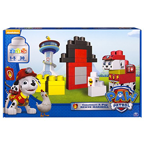 IONIX Jr. PAW Patrol, Construct-A-Pup, Rescue Marshall Block Set - 1