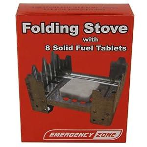 flat folding stove