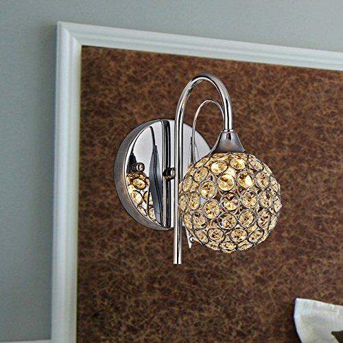 Lampe de chevet moderne et minimaliste de la lampe de mur de la lampe de cristal