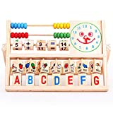 Abacus Wooden Toys ,BeautyVan Kids Learning Versatile Flap Abacus Wooden Toys