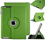 New StyleApple Ipad air 2 (2014-15)/ Ipad 6 360 Rotating Magnetic PU Leather Case (Green) Smart Cover Stand for Apple Ipad air 2 (2014-15)/ Ipad 6