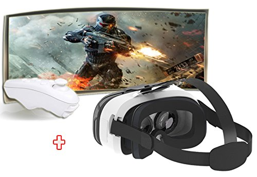 InewVision Virtual Reality 3D Glasses with Bluetooth Remote Controller Virtual Glasses (VR headset With Remote)