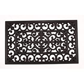 Rubber Scroll Doormat Rectangular