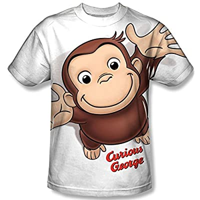 Curious George Hands In The Air All Over Front T-Shirt