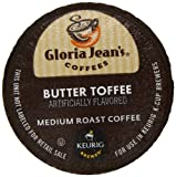 Gloria Jean's Butter Toffee K-Cup packs for Keurig Brewers (Pack of 50)