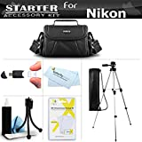 Accessory Starter Kit For The Nikon Coolpix L330, L110 L120, L310, L810 L820, L620, L830, L840 Digital Camera Includes Deluxe Carrying Case + 50 Tripod w/Case + Screen Protectors + Mini Tripod + More