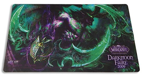 World of Warcraft Trading Card Game TCG Illidan Darkmoon Faire Playmat - Rare